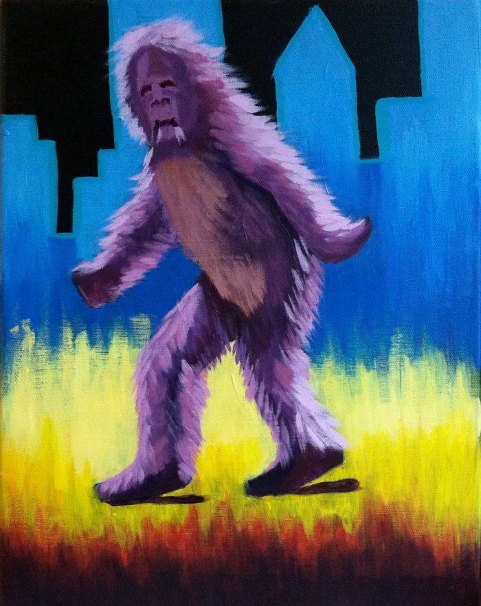 """Urban Squatch"" Acrylic on canvas"