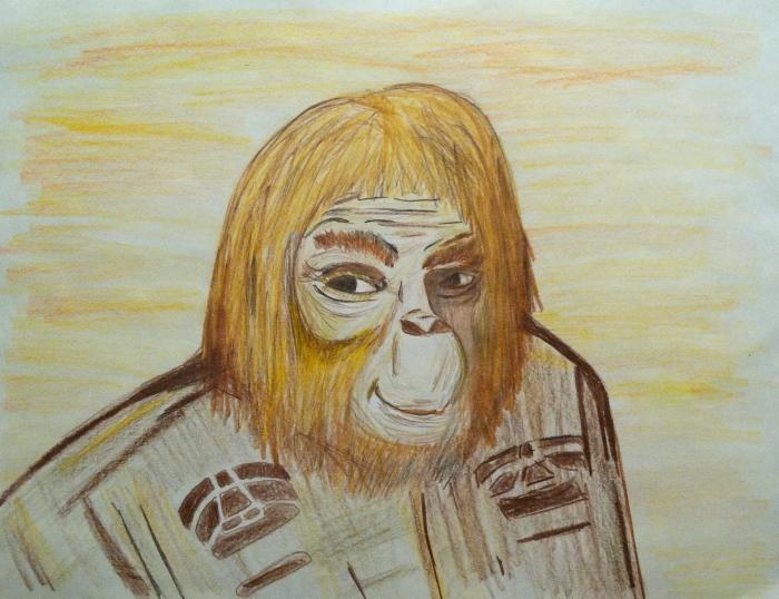 """Dr. Zaius"" colored pencil on paper by CBob"